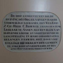 Een eerste orgel in Rolde (1847)