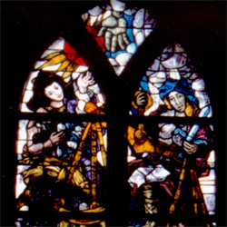 Juristen, het eerste raam aan de noordzijde (links) in het koor